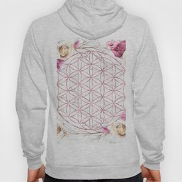 Mandala Rose Gold Garden Pink Red Yellow Hoody