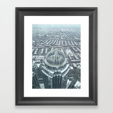 Aerial Boston Framed Art Print