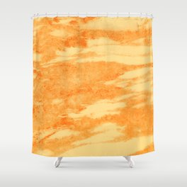 Light orange marble texture Shower Curtain