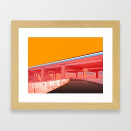 I-70E Underpass Framed Art Print