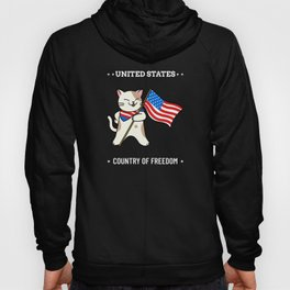 United States Country of Freedom American cat Hoody
