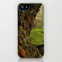 Behind Seljalandsfoss Waterfall in Iceland (2) iPhone Case
