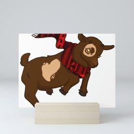 Heart Christmas Sweater Goat Mini Art Print