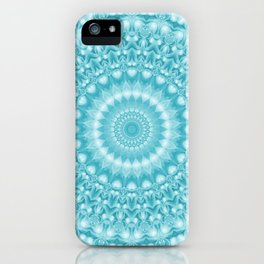 Caribbean Blue Mandala iPhone Case