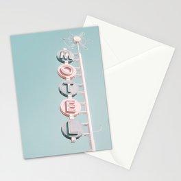 Retro Motel Sign USA Stationery Cards