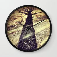shadow Wall Clocks featuring Shadow by Jessica Morelli