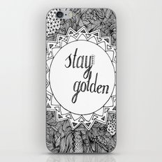 Stay Golden iPhone & iPod Skin