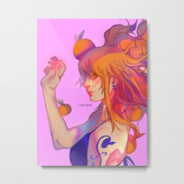 My Orange Lady Metal Print