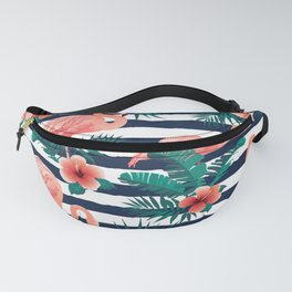 Flamingos, Stripes & Flowers Fanny Pack