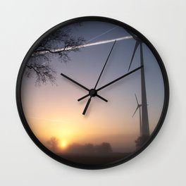 Airlines in Sunrise Wall Clock
