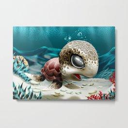 Baby Turtle Metal Print