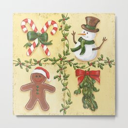 Christmas Patch Metal Print