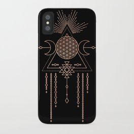 Mandala Flower of Life Rose Gold Pink iPhone Case