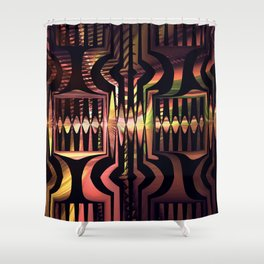 Groovy pattern abstract Shower Curtain