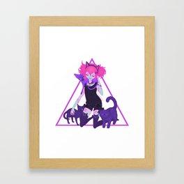 unHOLY | neon Framed Art Print