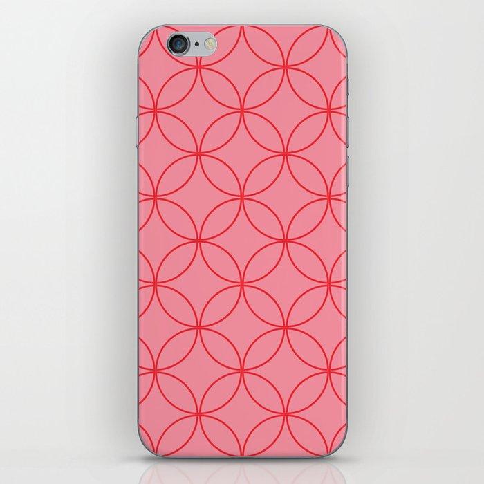 Moorish Circles - Pink & Red iPhone Skin