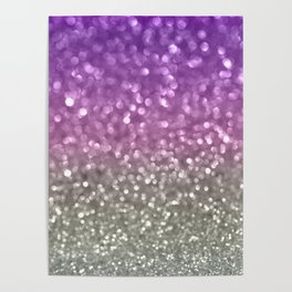 Lilac and Gray Poster