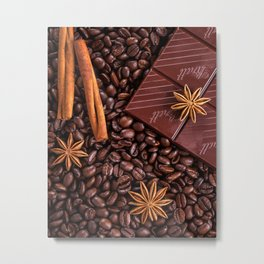 coffee, chocolate and cinnamon Metal Print