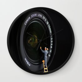 Keeping the Lenses Clean Wall Clock
