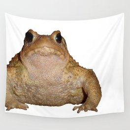 Bufo Bufo European Toad  Isolated Wall Tapestry
