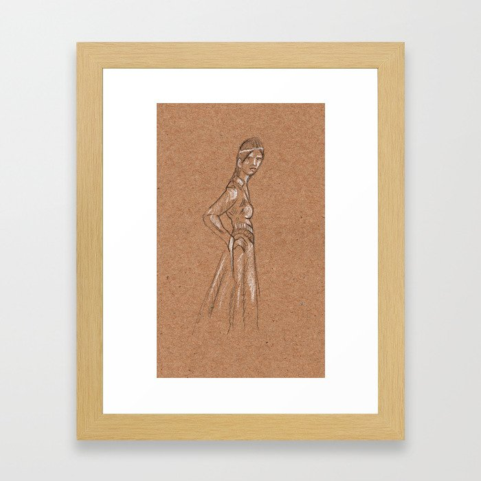 Girl from another time Framed Art Print