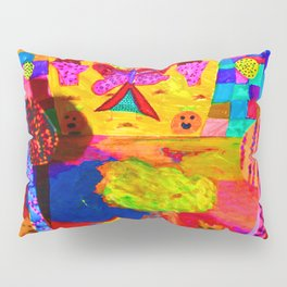 Colorful Feast | Kids Painting Pillow Sham