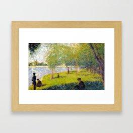 Georges Seurat Study for A Sunday on La Grande Jatte Framed Art Print