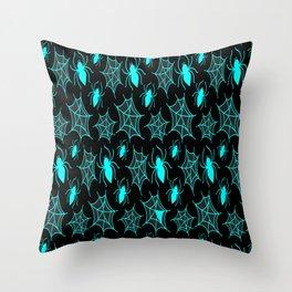 Spider Pattern Scary Spider Net Halloween Gift Throw Pillow