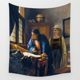 The Doctor and Vermeer's Geographer Wall Tapestry