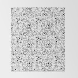 """""""Cells and bacteria's party"""" vol 3 Throw Blanket"""