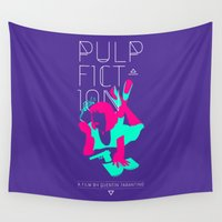 pulp Wall Tapestries featuring Pulp Fiction by RJ Artworks