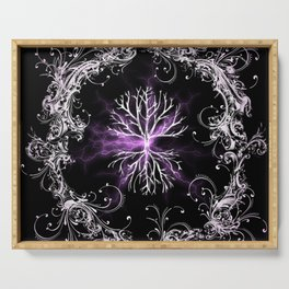 Tree of Life, Purple Universe, Cosmic Tree Serving Tray