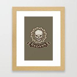 Badass skull Framed Art Print