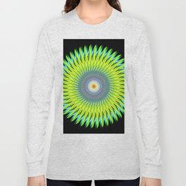 Green Machine Spiral Art Design Long Sleeve T-shirt