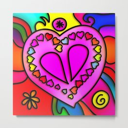 Colorful Modern Love Metal Print