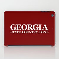 georgia iPad Cases featuring Georgia by The Cracked Dispensary