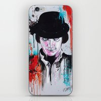 clockwork orange iPhone & iPod Skins featuring A Clockwork Orange - ALEX by Denise Esposito