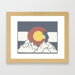 Colorado, the Big Blue Bear and the Rockies Framed Art Print