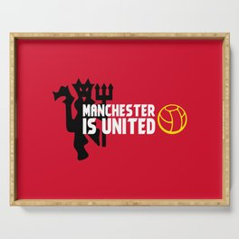 Manchester Is United Serving Tray