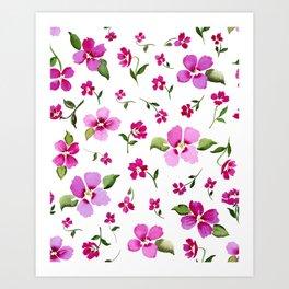 Confetti Pink Art Print
