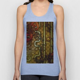 Noble Steampunk design, clocks and gears Unisex Tank Top