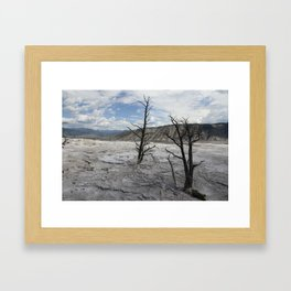 Mammoth Hot Spring  Terrace Framed Art Print