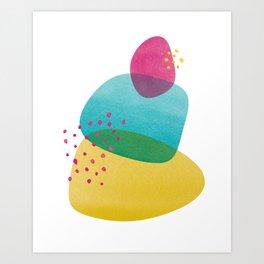 Happy Blobs I Art Print