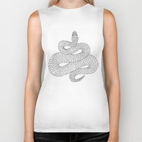 snake Biker Tanks featuring Snake by Syrupea