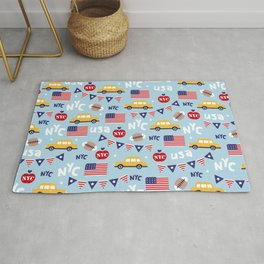 Made in the USA New York City icons pattern Rug