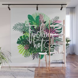 fucking hot, exotic palm leaves Wall Mural