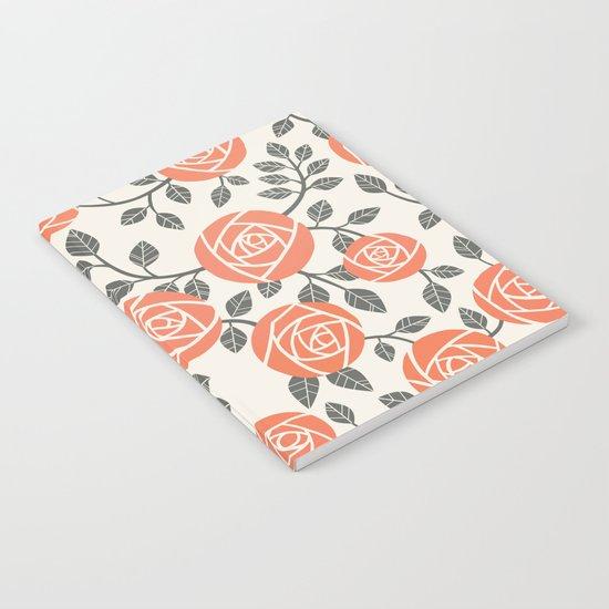Retro roses Notebook