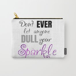 Sparkle - Black Carry-All Pouch