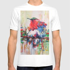 colorful bird- nature  MEDIUM White Mens Fitted Tee