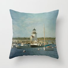 Welcome to Nantucket Throw Pillow